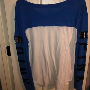 Victoria secret long sleeve w/ sequence